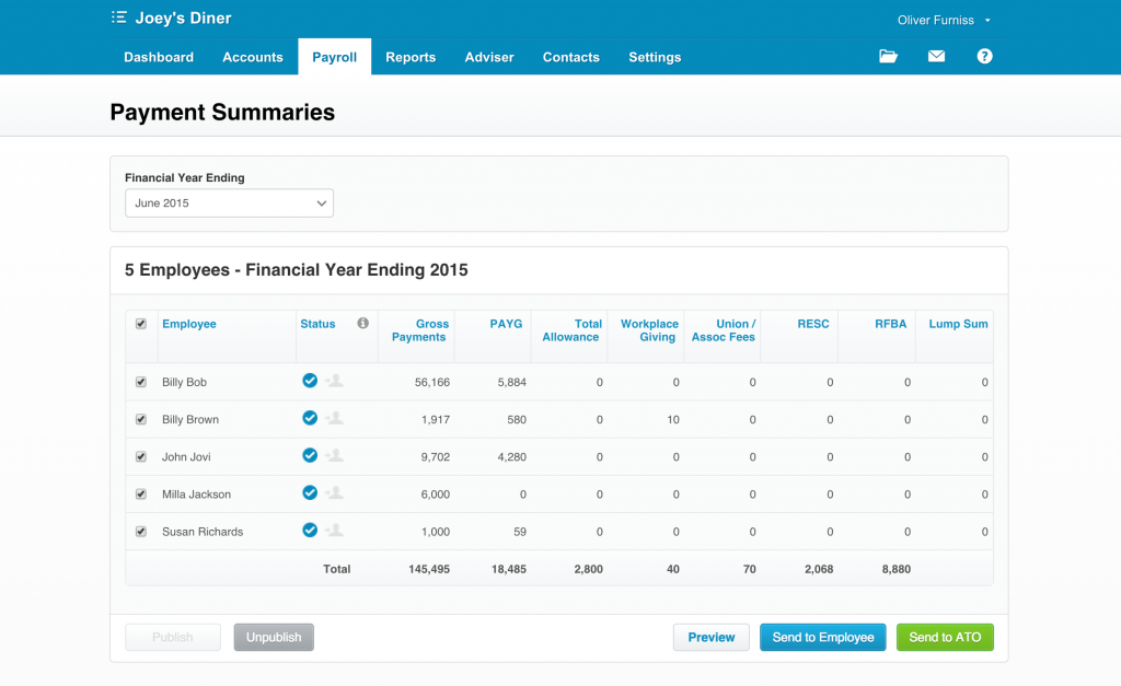 Xero payroll software