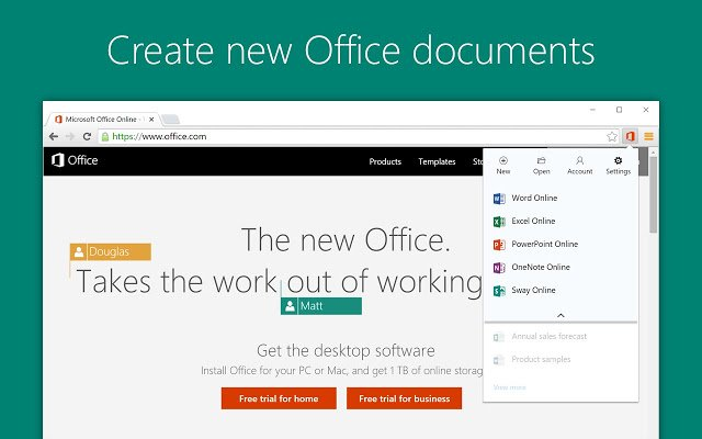 Office chrome extension