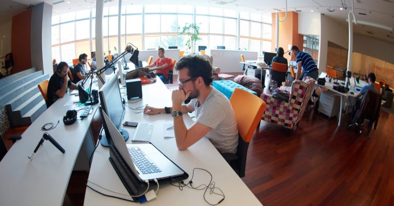 Group of startup people working